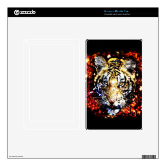 The tiger volcano kindle fire decals