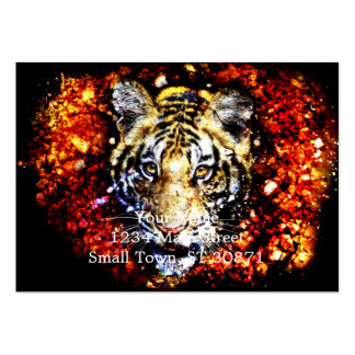 The tiger volcano large business card