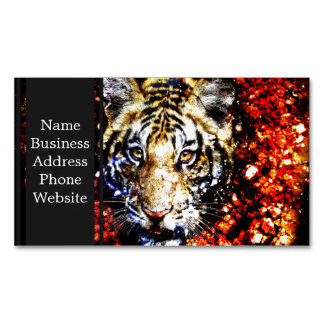 The tiger volcano magnetic business card