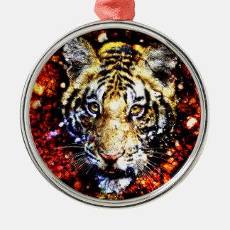 The tiger volcano metal ornament
