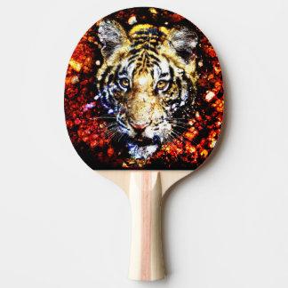The tiger volcano Ping-Pong paddle