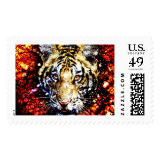The tiger volcano postage