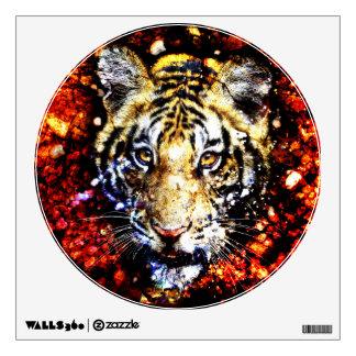 The tiger volcano wall sticker