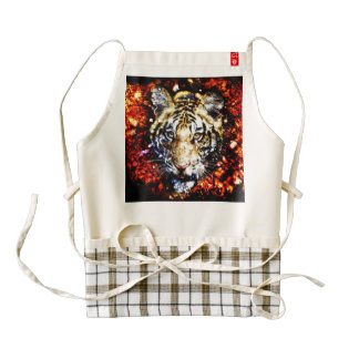 The tiger volcano zazzle HEART apron