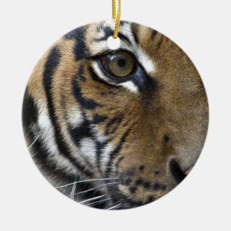 The Tiger's Eye Ceramic Ornament