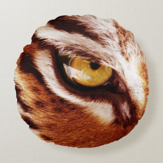 The Tiger's Eye Photograph Round Pillow