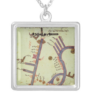 The Tigris and the Euphrates Square Pendant Necklace