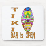 the TIKI BAR is OPEN Mask Mouse Pad