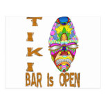 the TIKI BAR is OPEN Mask Post Card