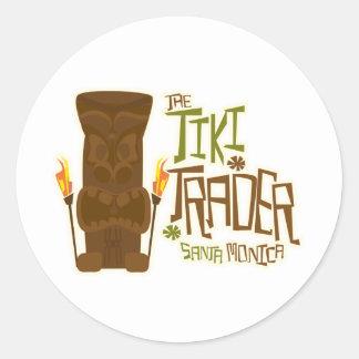 The Tiki Trader Basic Style Round Sticker