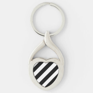 The Tilted Zebra Key Chains