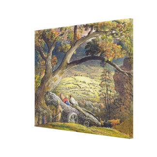 The Timber Wain, c.1833-34 (w/c & gouache on paper Canvas Print