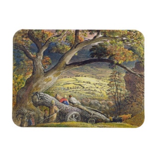 The Timber Wain, c.1833-34 (w/c & gouache on paper Rectangle Magnets