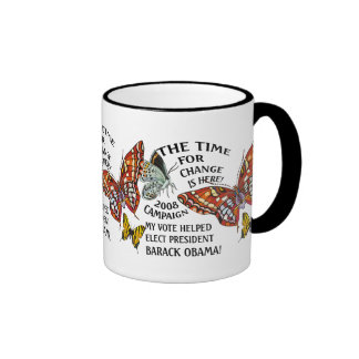THE TIME FOR CHANGE IS HERE! RINGER COFFEE MUG