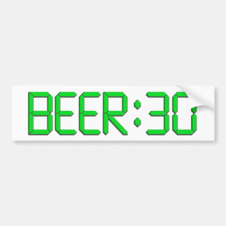 The Time Is Beer 30 Car Bumper Sticker