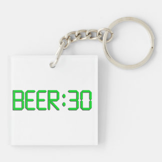 The Time Is Beer 30 Keychain