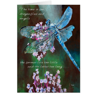 The Time Is For Dragonflies and Angels Greeting Cards