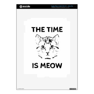 The Time is Meow iPad 3 Decal