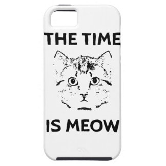 The Time is Meow iPhone SE/5/5s Case