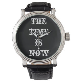 The Time Is Now: Black & White Mindful Moment Watch