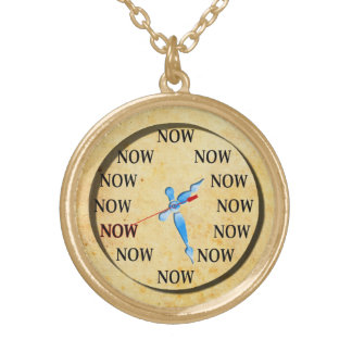 The Time Is Now! Gold Plated Necklace