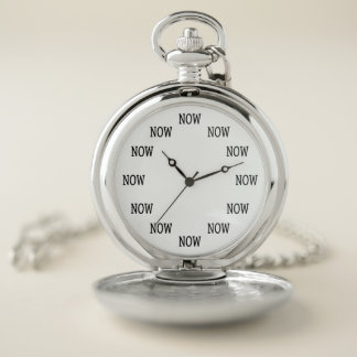 The Time is NOW pocket watch