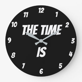 """""""The Time Is"""" Wall Clock"""