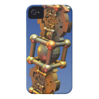 The time machine, cool 3-d abstract with gears iPhone 4 cover