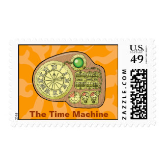 The Time Machine - H. G. Wells Postage Stamp