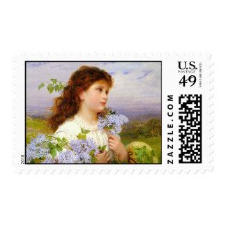 The Time Of The Lilacs Postage Stamp