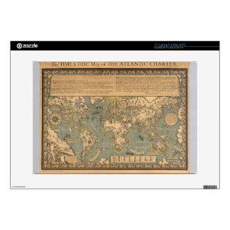 "The ""Time & Tide"" Map of The Atlantic Charter 15"" Laptop Skin"