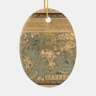 "The ""Time & Tide"" Map of The Atlantic Charter Ceramic Ornament"