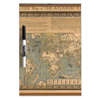"""The """"Time & Tide"""" Map of The Atlantic Charter Dry Erase Board"""