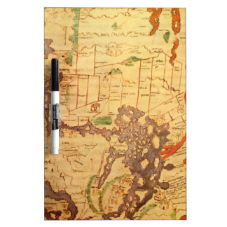 """The """"Time & Tide"""" Map of The Atlantic Charter Dry-Erase Board"""