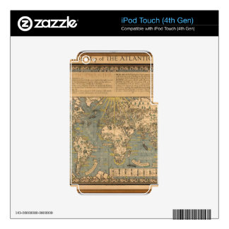 """The """"Time & Tide"""" Map of The Atlantic Charter iPod Touch 4G Decals"""