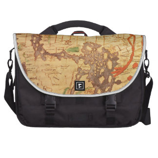 """The """"Time & Tide"""" Map of The Atlantic Charter Laptop Bags"""