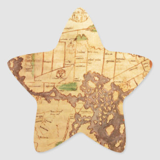 "The ""Time & Tide"" Map of The Atlantic Charter Star Sticker"