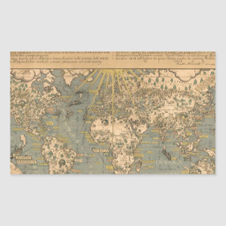 """The """"Time & Tide"""" Map of The Atlantic Charter Stickers"""