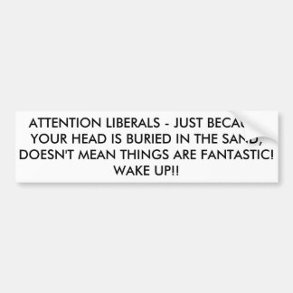 The time to be realistic is upon us. bumper sticker