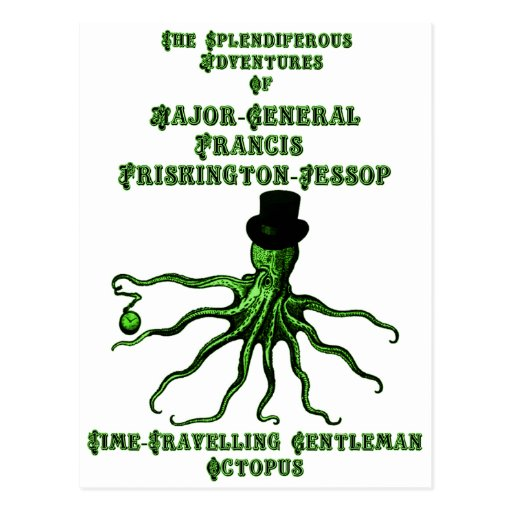 The Time-Travelling Gentleman Octopus Postcard