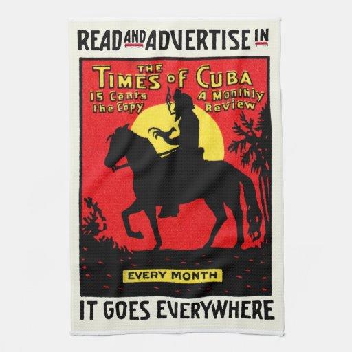 The Times 1920 de Cuba Toalla De Mano