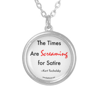 The Times Are Screaming for Satire Round Pendant Necklace