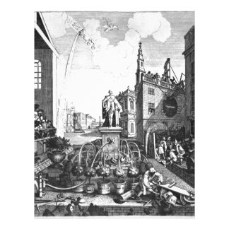 The Times, plate 2 by William Hogarth Letterhead
