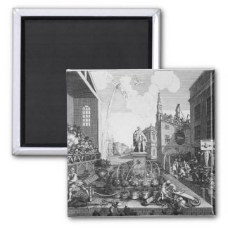 The Times, Plate II 2 Inch Square Magnet