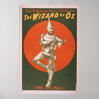 The Tin Man Vintage Musical Poster