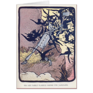 The Tin Woodman Battles the Jackdaws Greeting Card