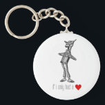 "The Tin Woodsman &quot;If I Only Had a Heart&quot; Keychain<br><div class=""desc"">The Tin Woodman (the tin man) as pictured in The Wonderful Wizard of Oz by L. Frank Baum,  with the custom graphic: If I only had a (heart).</div>"