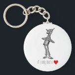 """The Tin Woodsman &quot;If I Only Had a Heart&quot; Keychain<br><div class=""""desc"""">The Tin Woodman (the tin man) as pictured in The Wonderful Wizard of Oz by L. Frank Baum,  with the custom graphic: If I only had a (heart).</div>"""