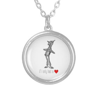 "The Tin Woodsman ""If I Only Had a Heart"" Silver Plated Necklace"