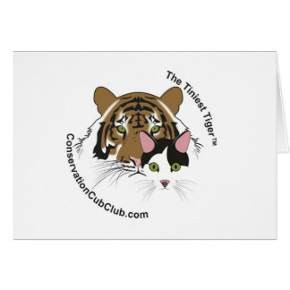 The Tiniest Tiger Conservation Cub Club Logo Card